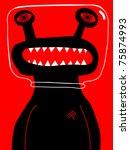 alien with glass helmet - stock vector