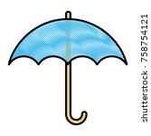 umbrella protection symbol icon ...