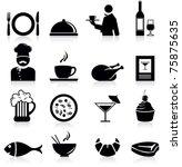 restaurant icons | Shutterstock .eps vector #75875635