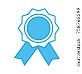 award ribbon symbol | Shutterstock .eps vector #758762299