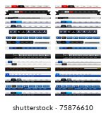 web design menu navigation bar...   Shutterstock . vector #75876610