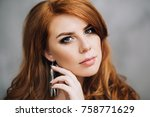 attractive beautiful woman with ...