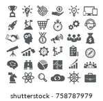 startup icons set on white... | Shutterstock . vector #758787979