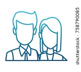 business couple teamwork | Shutterstock .eps vector #758790085
