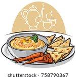 illustration on traditional...   Shutterstock .eps vector #758790367
