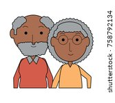 cartoon eldery couple icon over ... | Shutterstock .eps vector #758792134