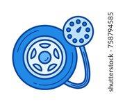 tire pressure vector line icon...   Shutterstock .eps vector #758794585