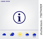 information sign icon  vector...   Shutterstock .eps vector #758794909