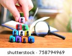 putting man symbol on top  for... | Shutterstock . vector #758794969