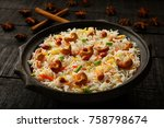 traditional recipe savory... | Shutterstock . vector #758798674