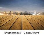 scenery of bangkok city in... | Shutterstock . vector #758804095