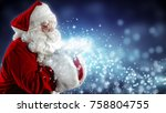 santa claus blows snow | Shutterstock . vector #758804755