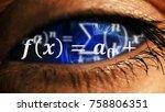 Zoom Into Eye Iris To Math...