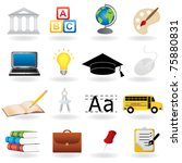 school and education related... | Shutterstock .eps vector #75880831