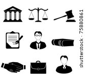 law  legal and justice related... | Shutterstock .eps vector #75880861