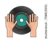 dj vinyl symbol   Shutterstock .eps vector #758815051