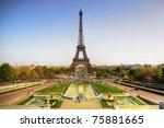 beautiful view of eiffel tower  ... | Shutterstock . vector #75881665