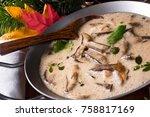 tasty mushroom sauce   Shutterstock . vector #758817169