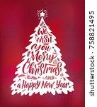 christmas tree silhouette....   Shutterstock .eps vector #758821495