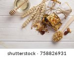 cereal superfood energy bars... | Shutterstock . vector #758826931