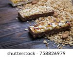 cereal superfood energy bars... | Shutterstock . vector #758826979