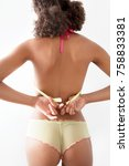 rear view of young african... | Shutterstock . vector #758833381