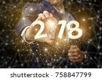 new year and a new business... | Shutterstock . vector #758847799