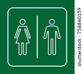 toilet sign. wc  men and women    Shutterstock .eps vector #758860159