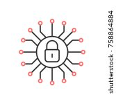 Cyber Security Icon. Vector...