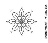 mandala sign illustration....   Shutterstock .eps vector #758882155