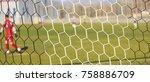 football game in arena through...   Shutterstock . vector #758886709
