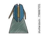 senior woman dress  icon over...   Shutterstock .eps vector #758887351