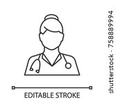 doctor linear icon. medical... | Shutterstock .eps vector #758889994