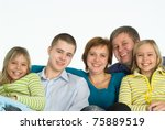 portrait of a happy family of... | Shutterstock . vector #75889519