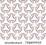 colorful seamless interlacing... | Shutterstock . vector #758899939