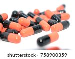 multicolored tablets. medical... | Shutterstock . vector #758900359
