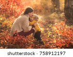 happy family mother and child... | Shutterstock . vector #758912197