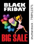 black friday. big sale.... | Shutterstock .eps vector #758912371