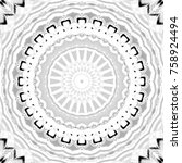 black and white pattern for... | Shutterstock . vector #758924494