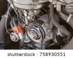 close up view of retro car... | Shutterstock . vector #758930551