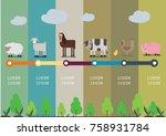farm infographic concept vector ...   Shutterstock .eps vector #758931784