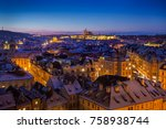 Prague Castle With Snowy...