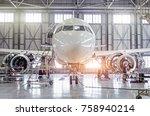 passenger aircraft on...