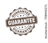 guarantee sign label tag stamp   Shutterstock .eps vector #758940271