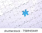 white details of a puzzle on... | Shutterstock . vector #758945449