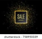 sale banner template design.... | Shutterstock .eps vector #758950339