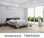 modern bright interior with air ... | Shutterstock . vector #758953354