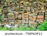 stacked reclaimed building... | Shutterstock . vector #758963911