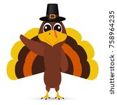 turkey pilgrimin on... | Shutterstock . vector #758964235