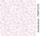 baby care vector cute seamless... | Shutterstock .eps vector #758972191